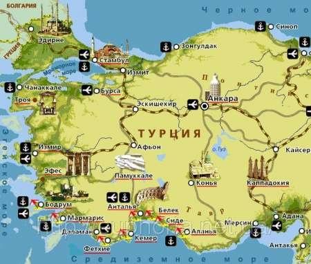 Близость к экскурсионных и туристических местам