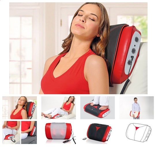 Массажные подушки для снятия болей в спине и шее