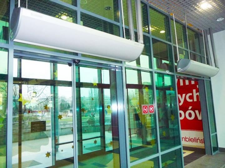 Установка тепловых завес для жилых и производственных помещений