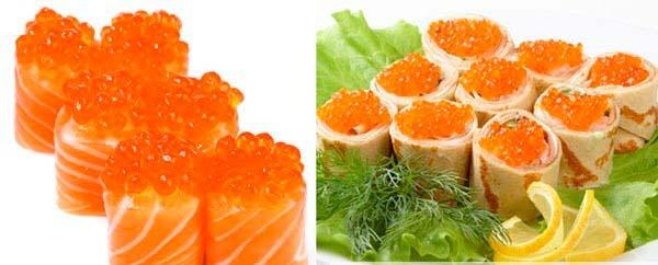 Как приготовить салат с красной икрой?
