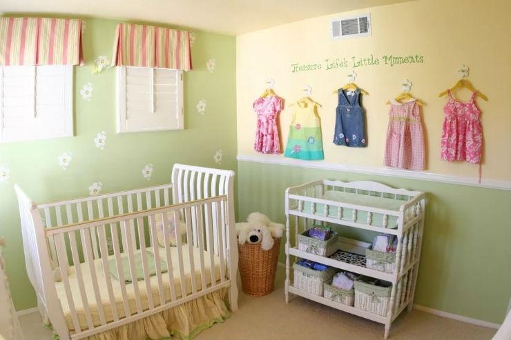 Оформление комнаты для новорождённых